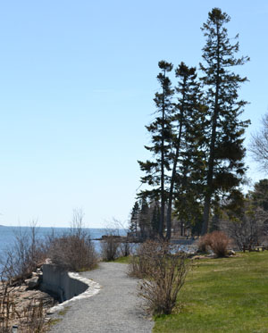 Shore Path, downtown Bar Harbor, Maine