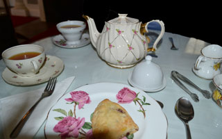 Afternoon Tea at Blithewold Mansion in Bristol, R.I.