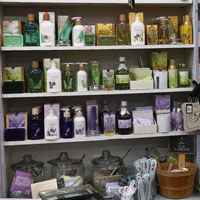 Beauty and the Bath, soap display, Wickford, R.I.